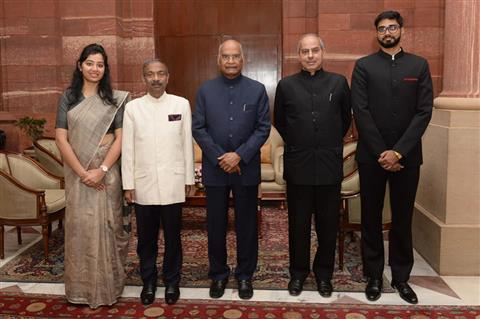 Officers Trainee of Indian Information Service call on the President of India Sh Ram Nath Kovind at Rashtrapati Bhavan today